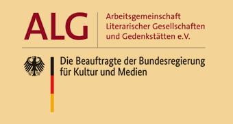 Logo Arbeitsgemeinschaft Literarischer Gesellschaften und Gedenkstätten / die Bundesbeauftragte für Kultur und Medien